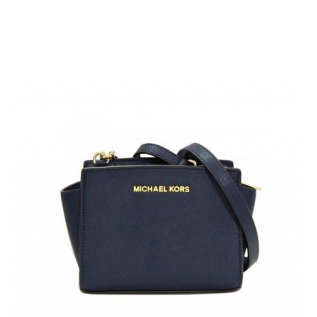 Selma Medium Saffiano Leather NAVY