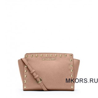 Selma Medium Studded Leather BLUSH