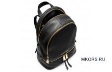 Michael Kors Rhea Small Leather Bacpack Black
